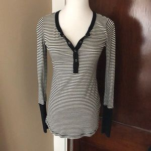 Splendid LA Snap Front Striped Thermal S
